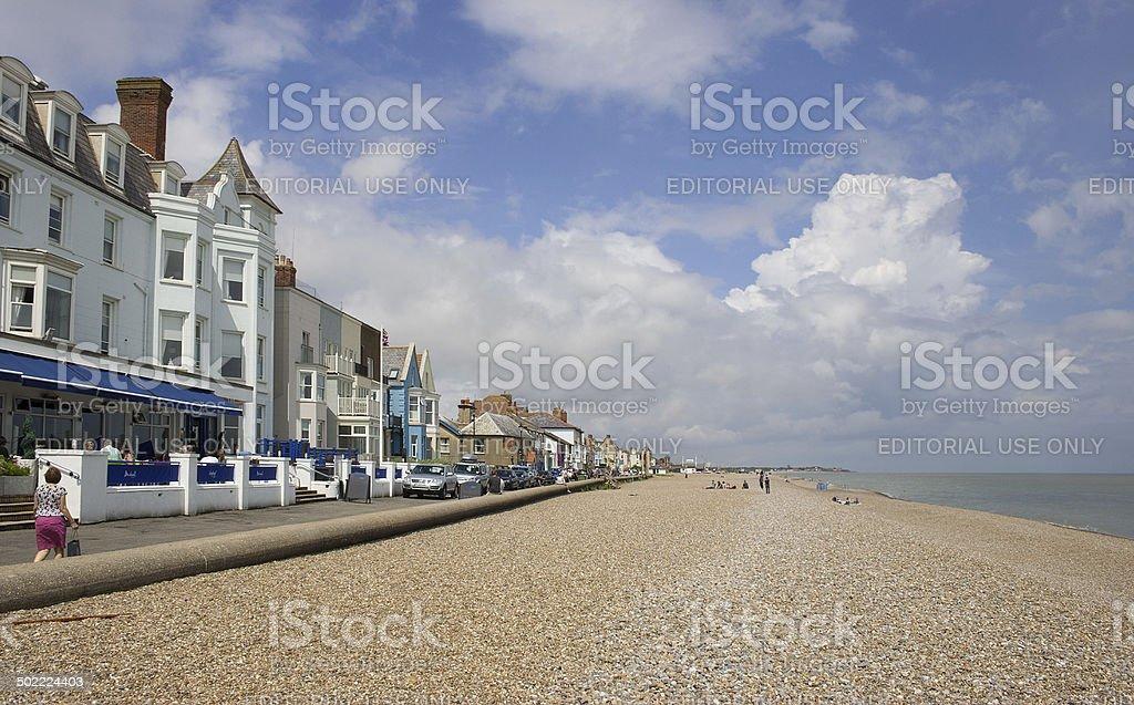 Brudenell Hotel and Aldeburgh beach stock photo