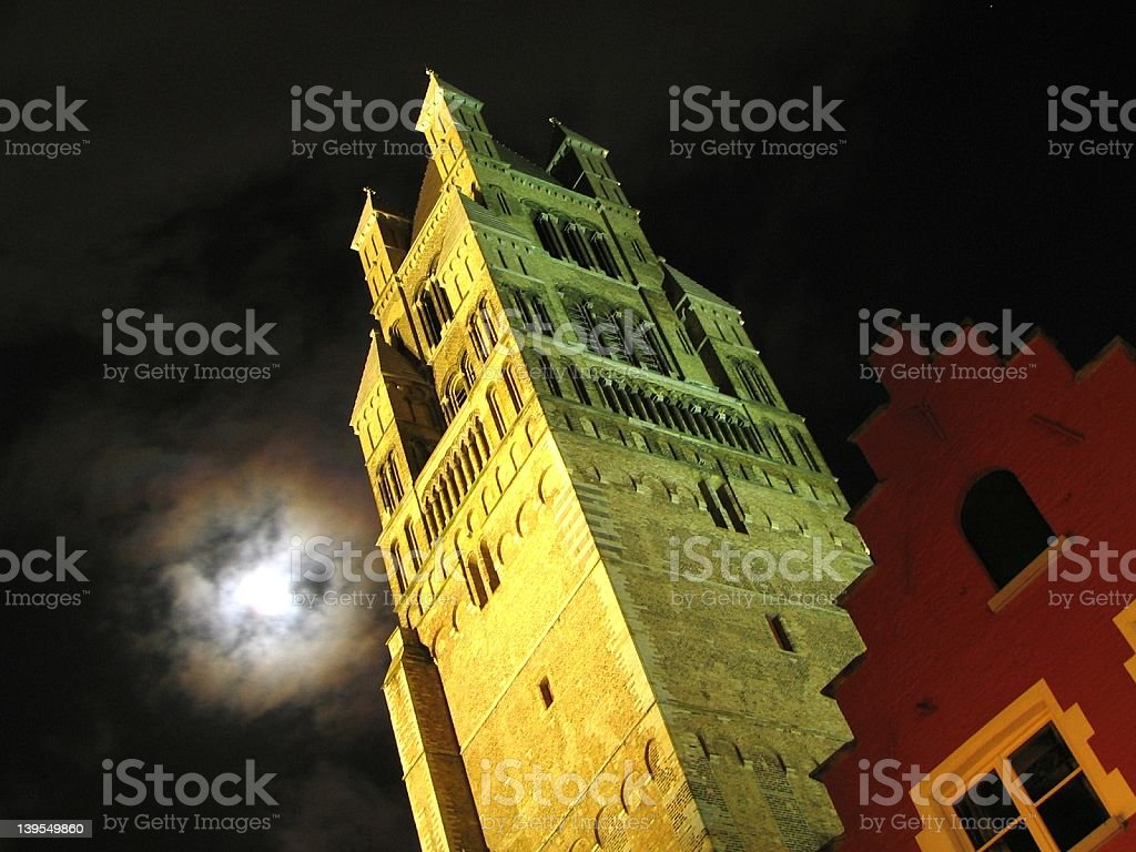 Bruges (B) at night royalty-free stock photo