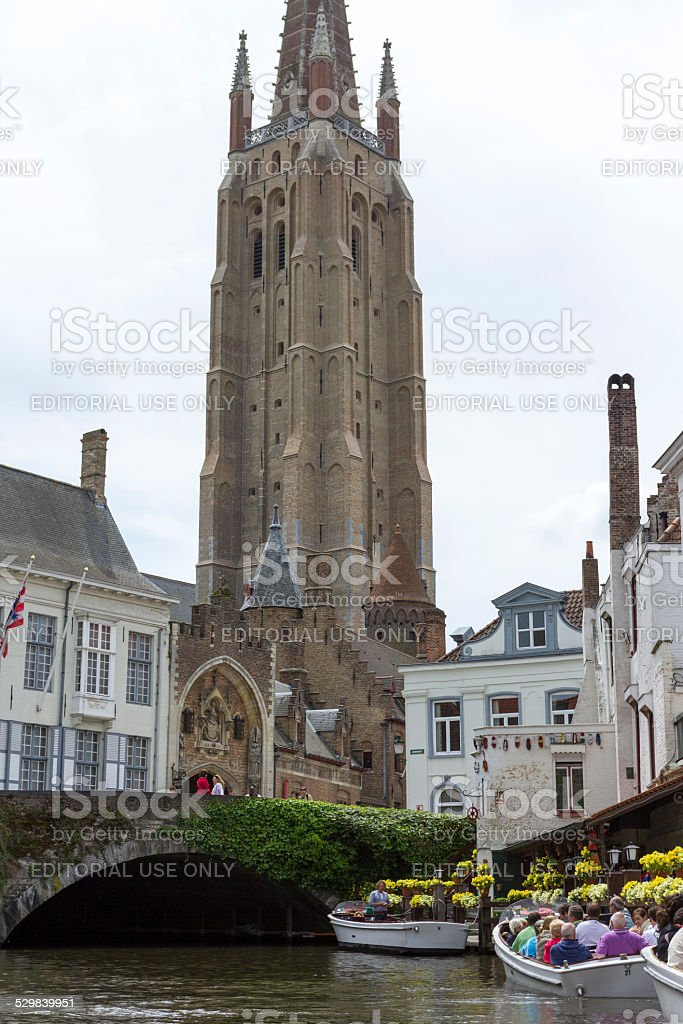 Bruges church stock photo