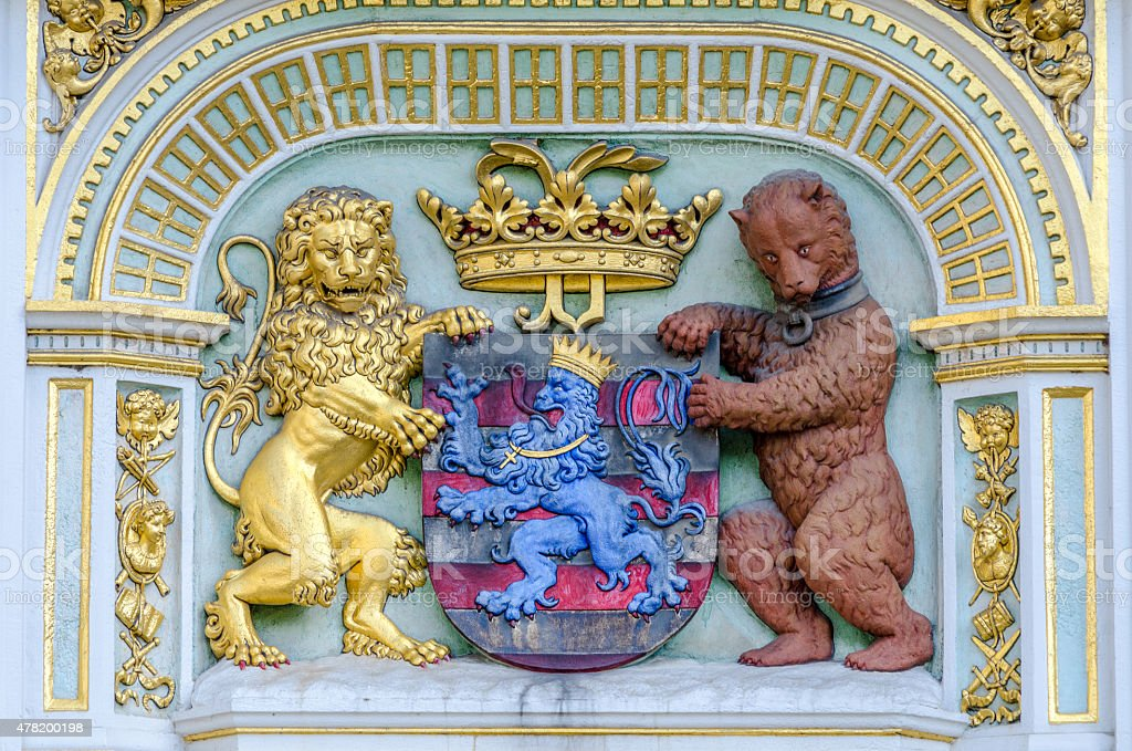 Bruges Coat of Arms stock photo