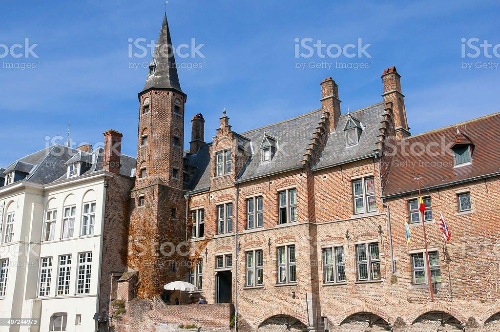 Bruges, medieval city in Belgium stock photo