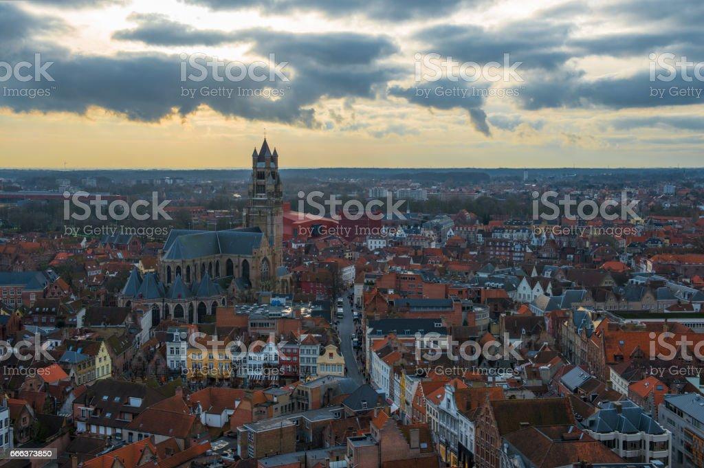 Bruges Skyline stock photo