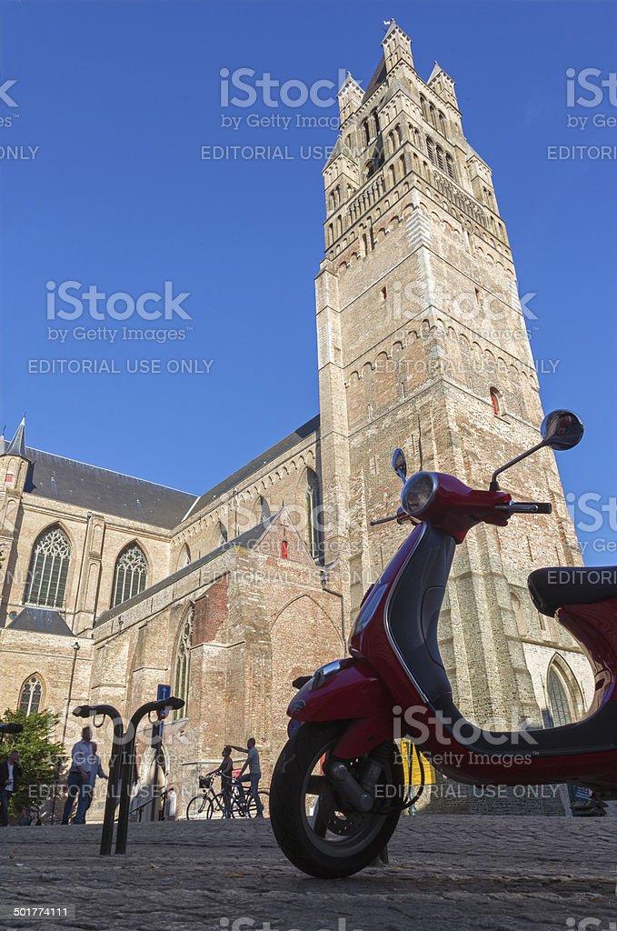 Bruges - St. Salvator's Cathedral (Salvatorskerk) stock photo