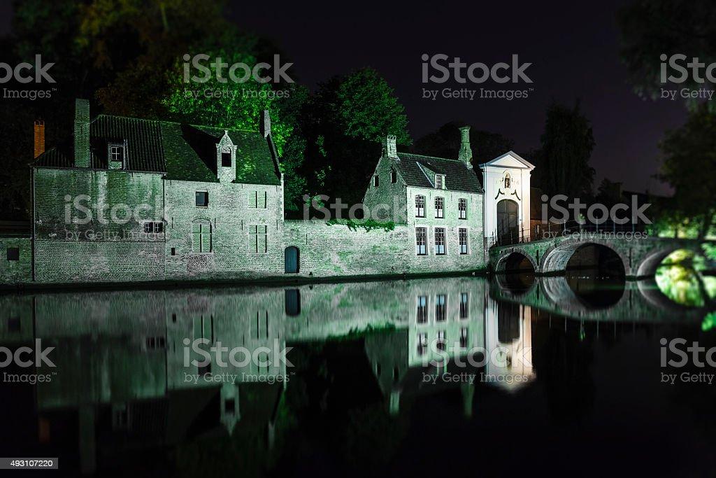 Bruges - the Beguinage, Belgium stock photo