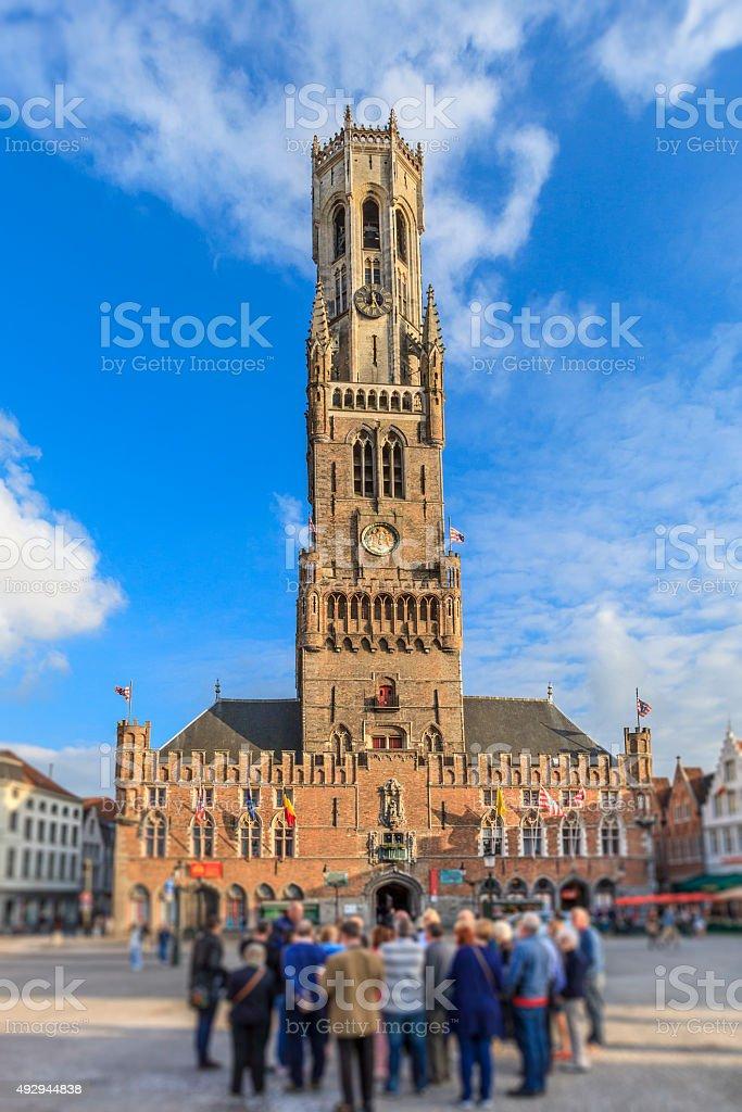 Bruges - the Belfry, Belgium stock photo