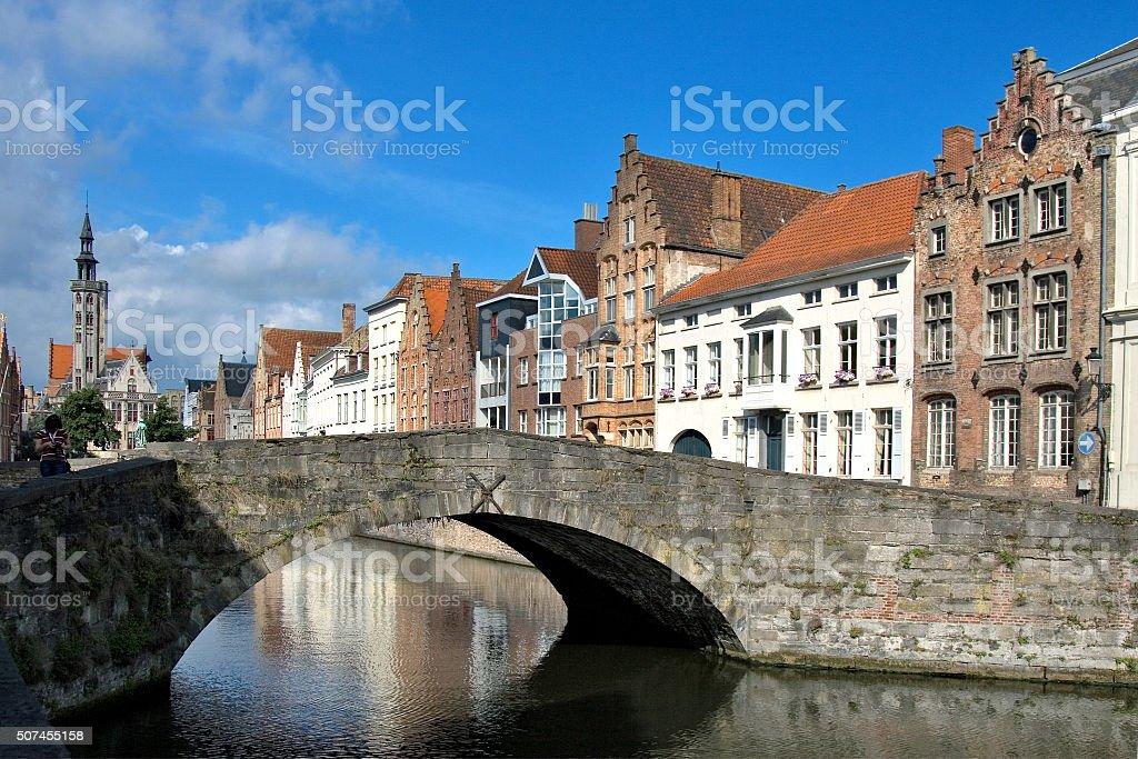Brugge, medieval city in Belgium stock photo