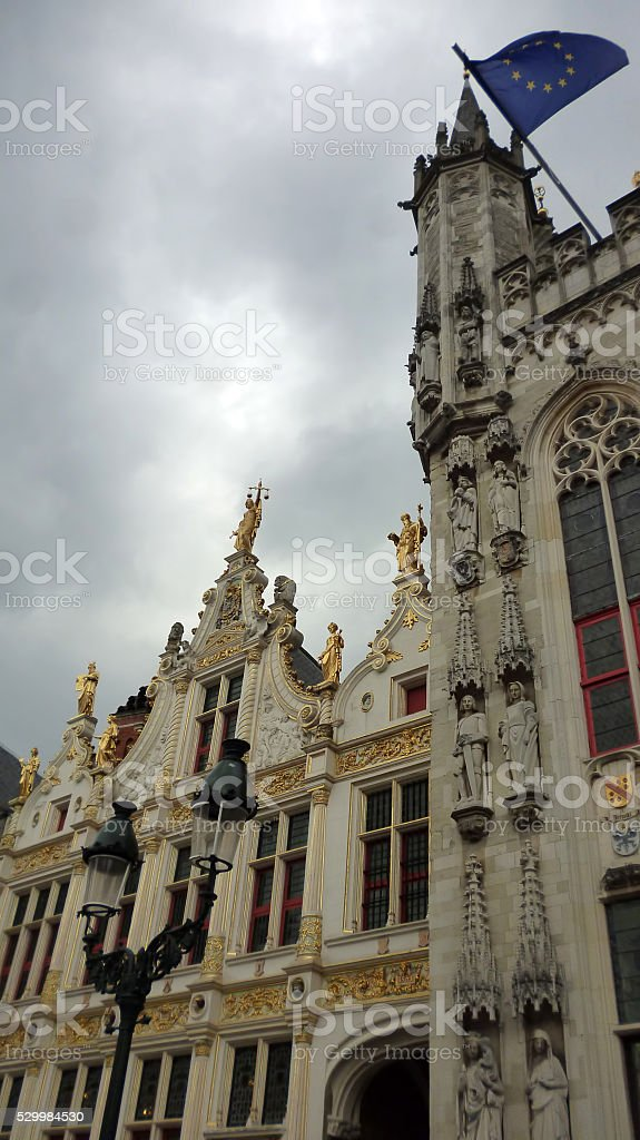 Brugge Town Hall stock photo