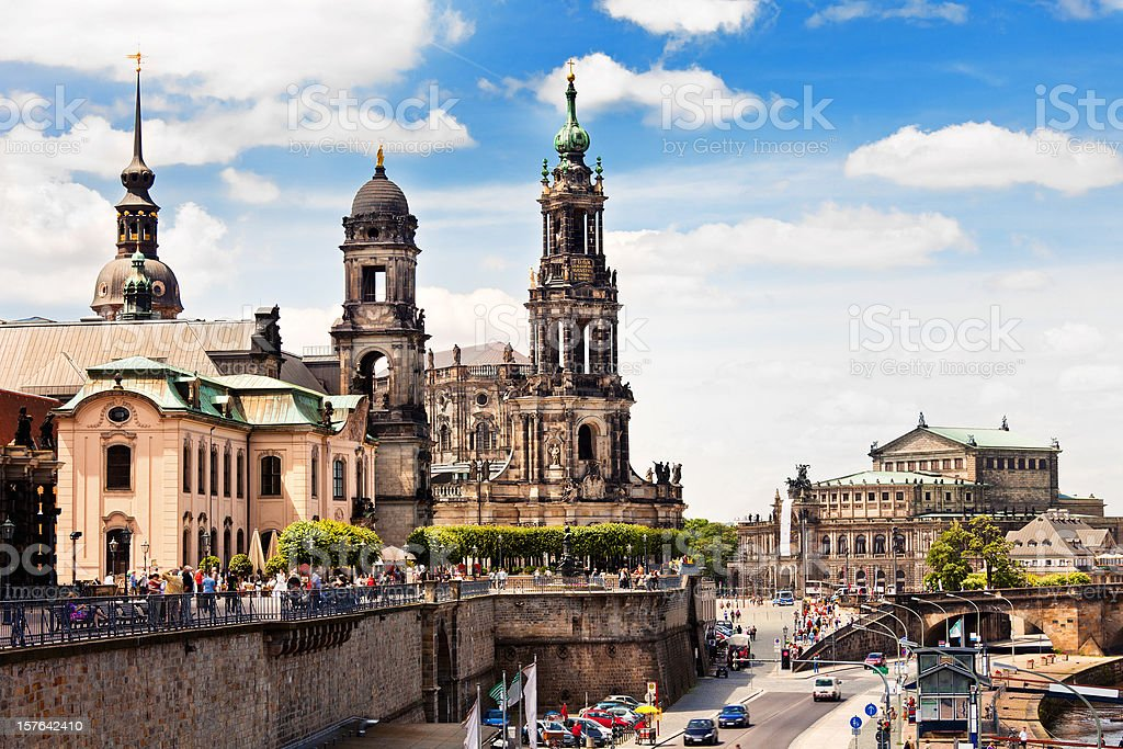 Bruhl Terrace, Dresden stock photo