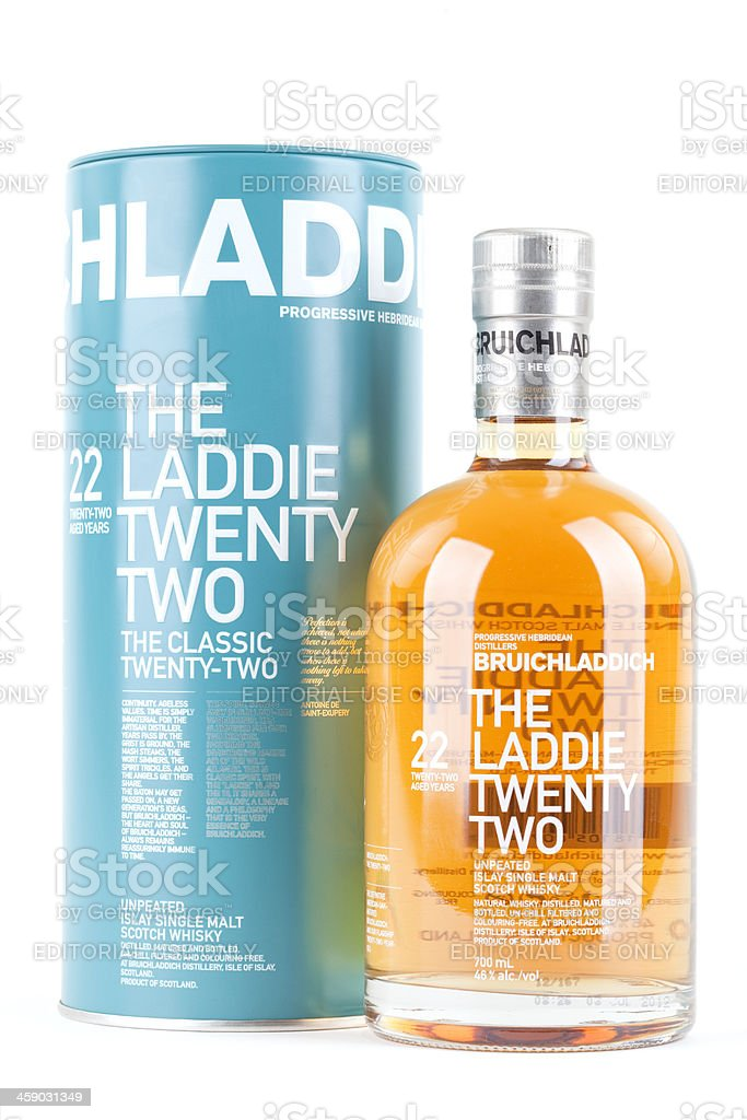 Bruichladdich 22 Year Old stock photo