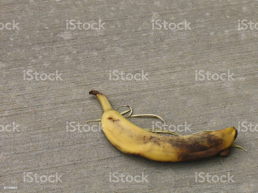 Bruised banana royalty-free stock photo