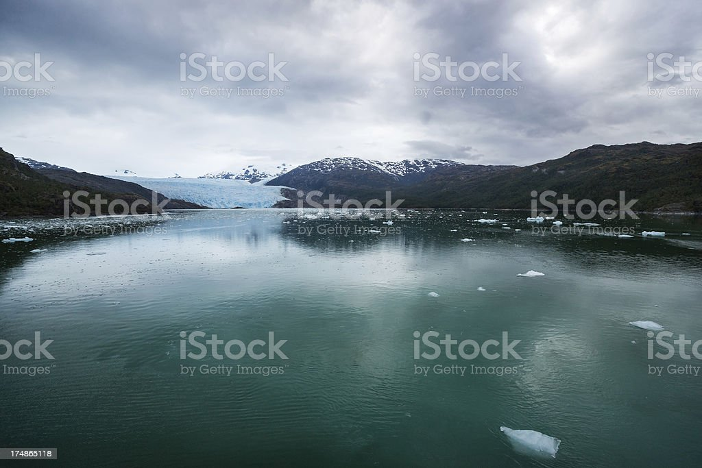 Brujo Glacier in Chilean Fjords, Northern Patagonia, Chile royalty-free stock photo