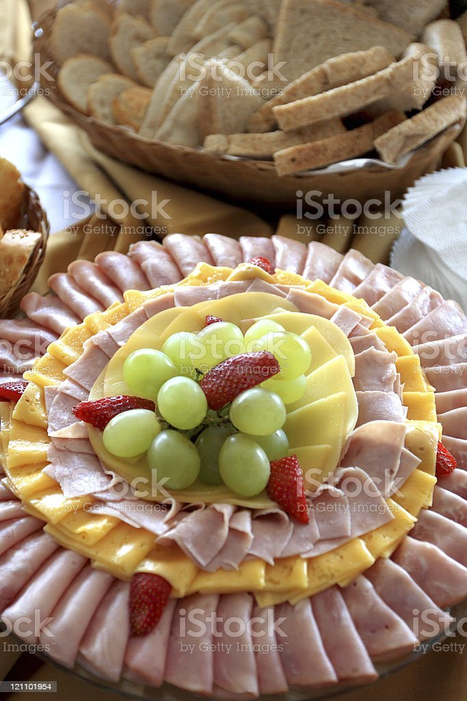 Brunch table detail royalty-free stock photo