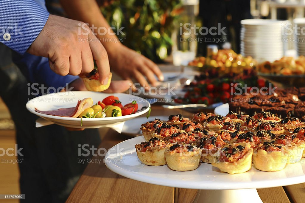 brunch time at weekend stock photo
