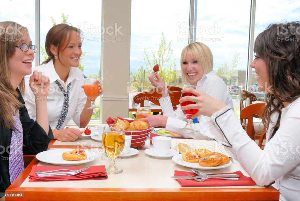 Brunch With The Girls royalty-free stock photo