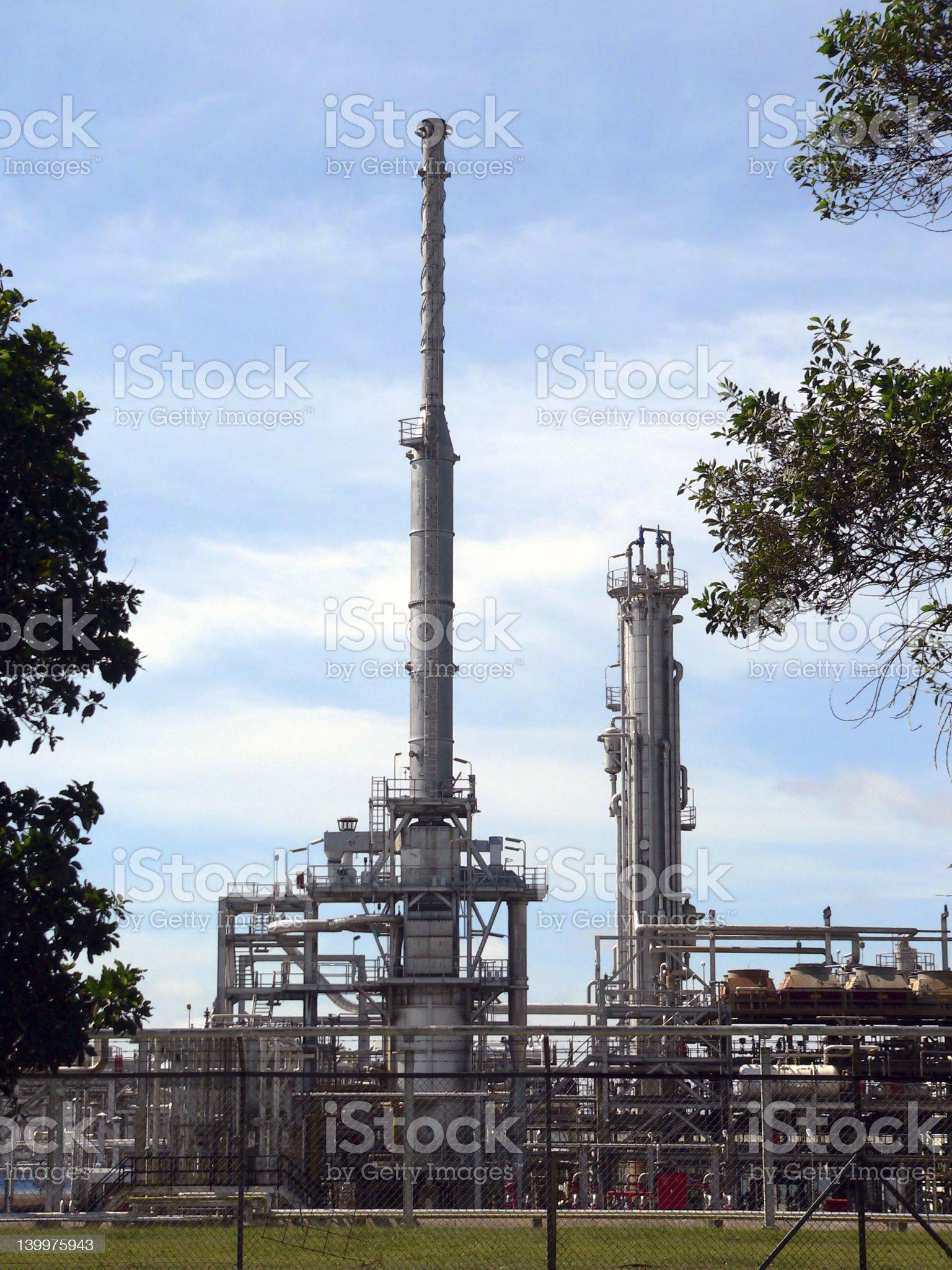 Brunei. Crude Oil Refinery royalty-free stock photo