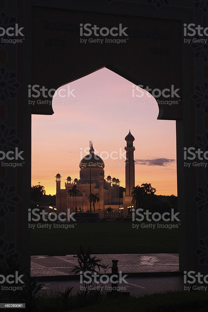 Brunei Darussalam Mosque stock photo