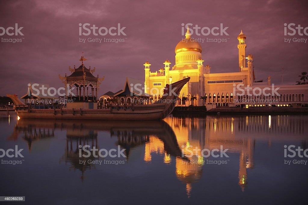 ASIA Brunei Darussalam MOSQUE stock photo