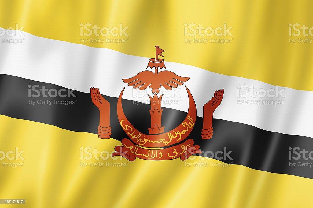 Bruneian flag royalty-free stock photo