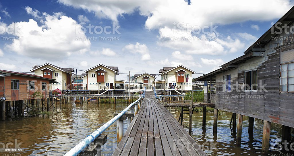 Brunei's Famed water villages are fully self sufficient royalty-free stock photo