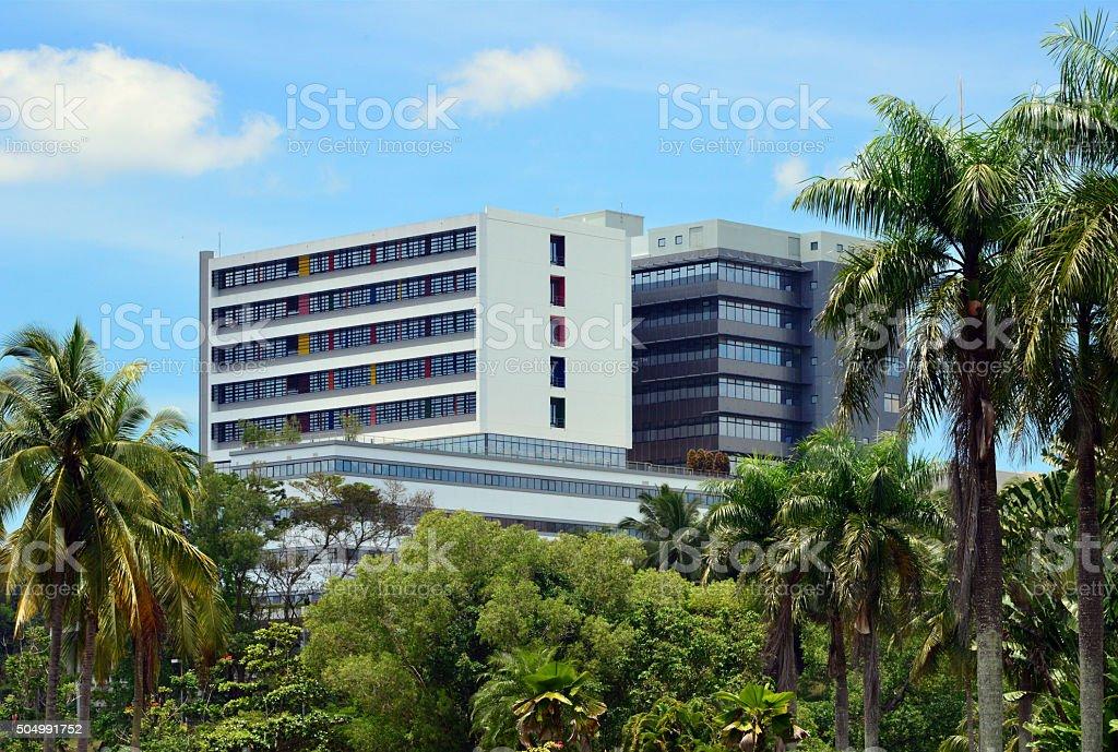 Brunei's main hospital, in the capital Bandar Seri Begawan stock photo