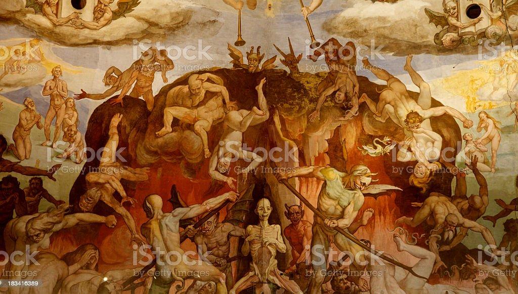 Brunelleschi Cupola, Florence Duomo, Italy stock photo