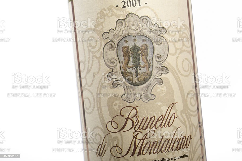 Brunello di Montalcino stock photo