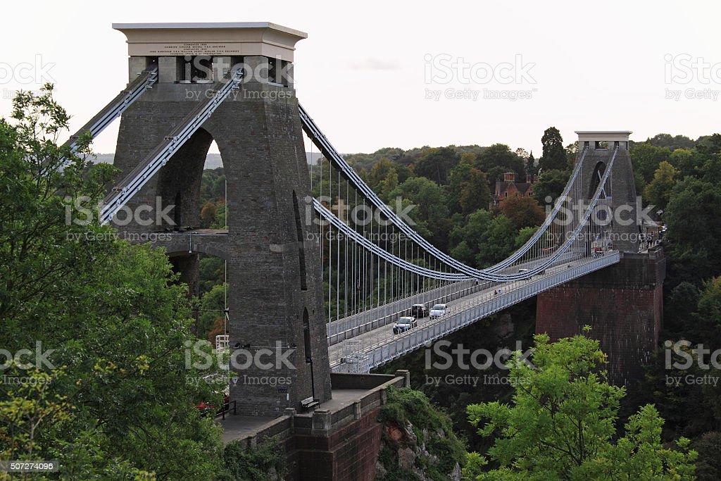 Brunel's Clifton suspension bridge over the Avon Gorge UK stock photo