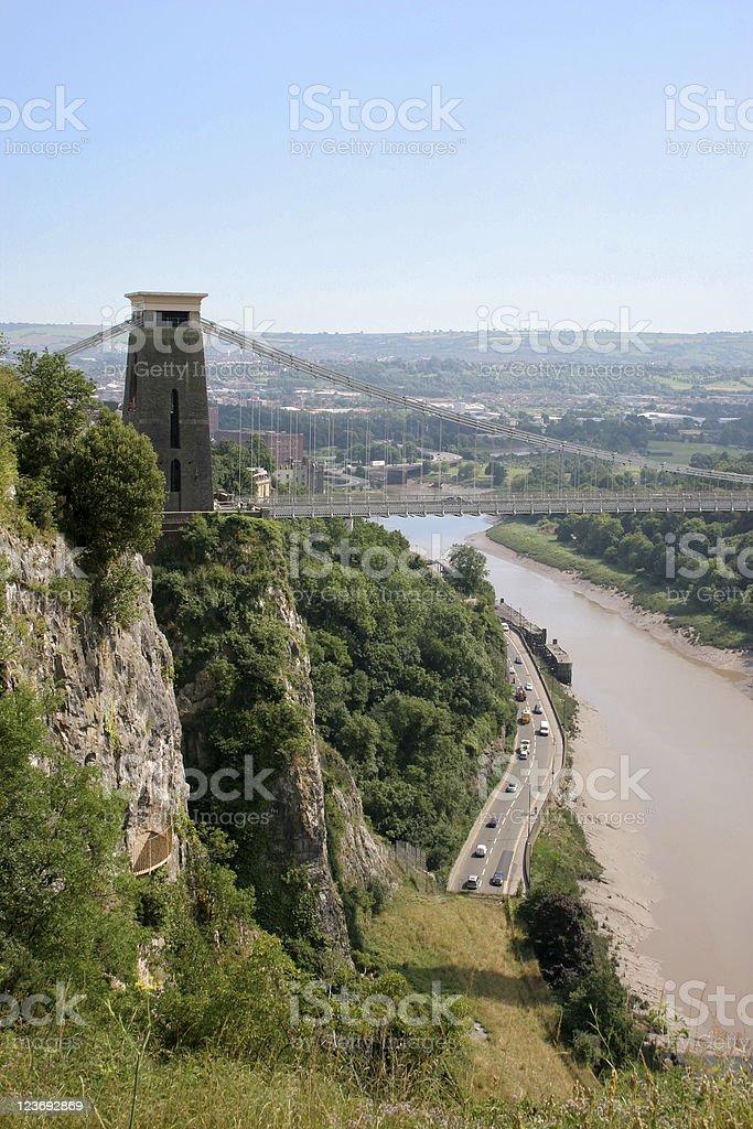 I. K. Brunel's Clifton Suspension Bridge stock photo