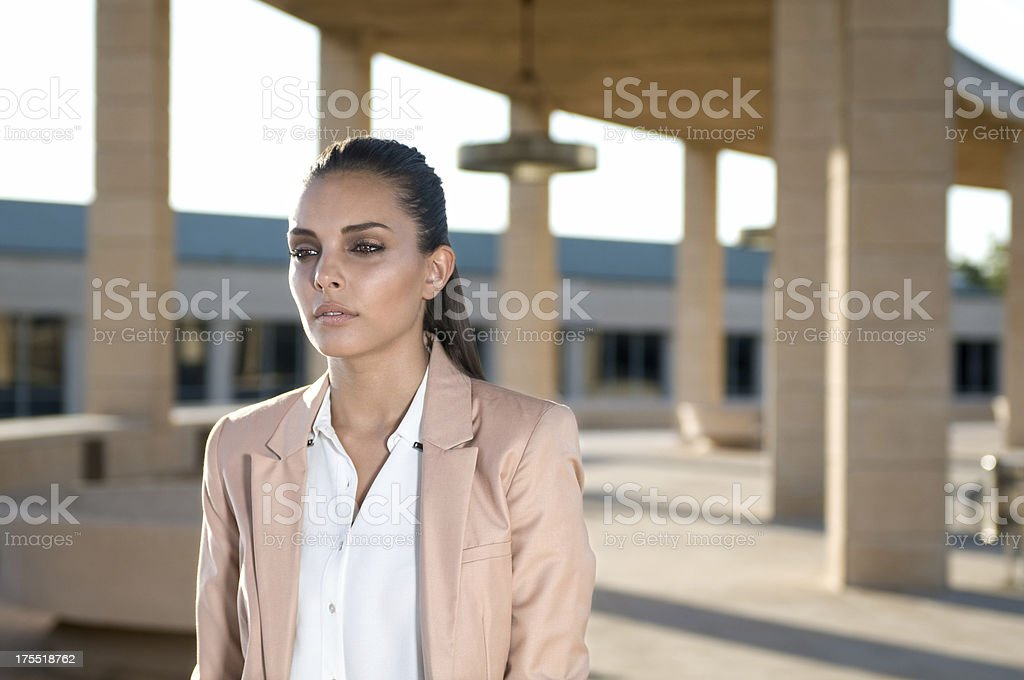 Brunette girl dressed with blazer royalty-free stock photo