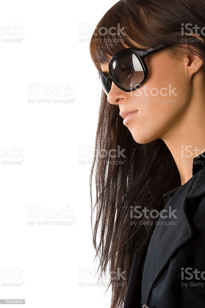Brunette in sunglasses royalty-free stock photo