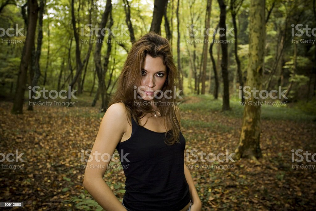 brunette royalty-free stock photo