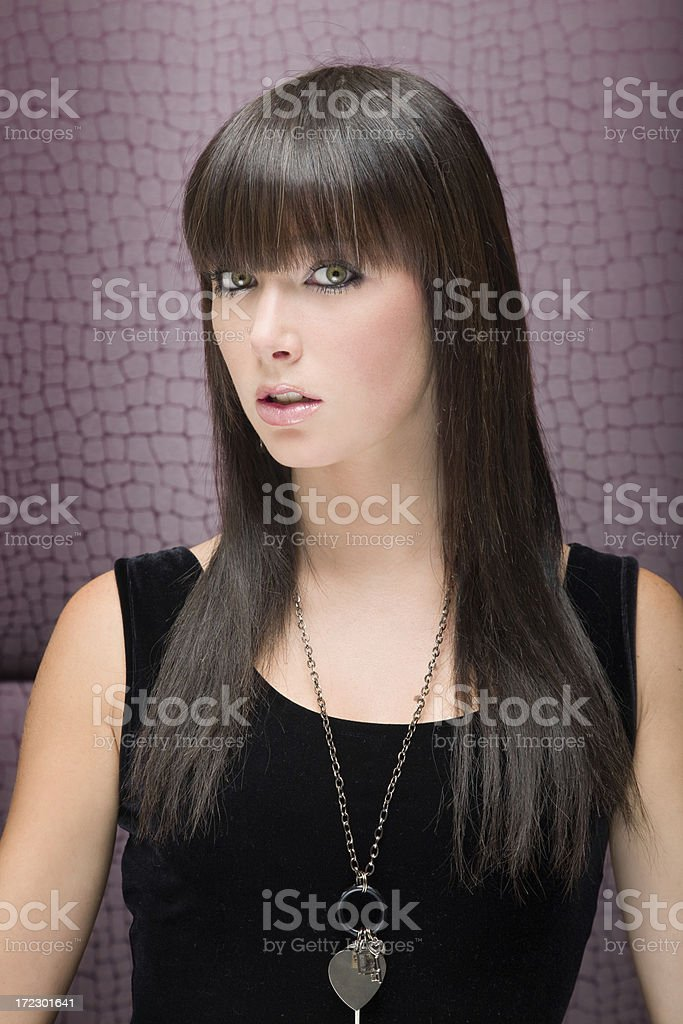 Brunette portrait royalty-free stock photo