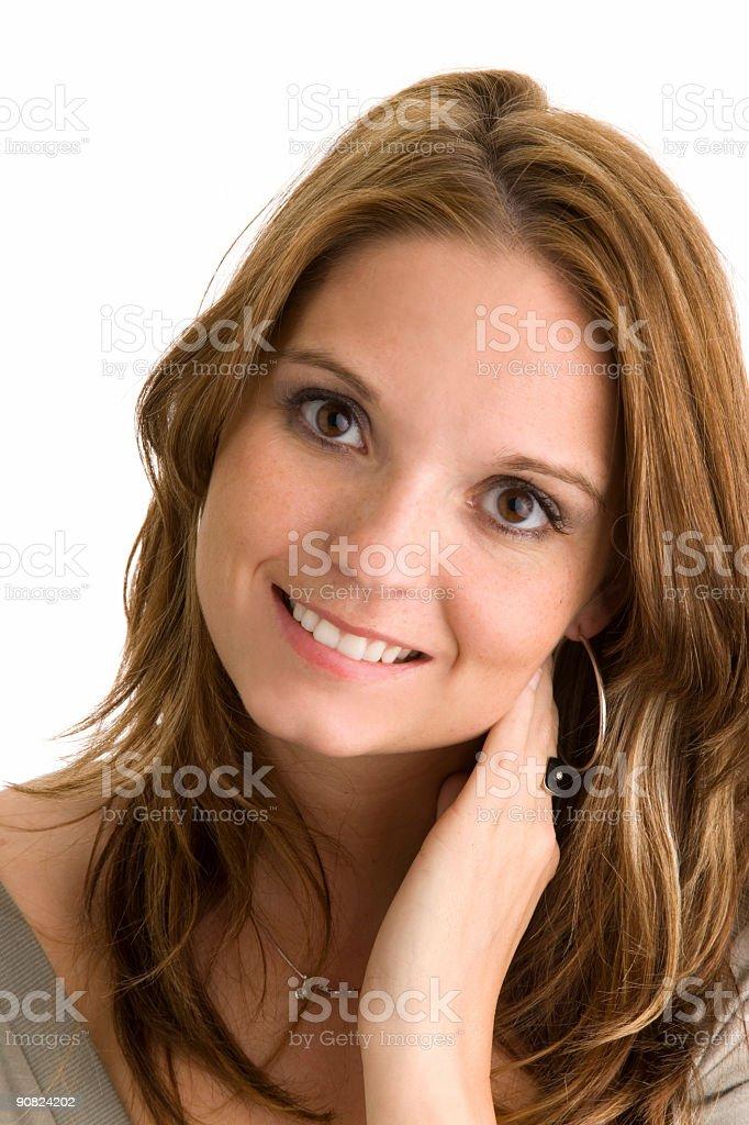 Brunette Portrait royalty-free stock photo