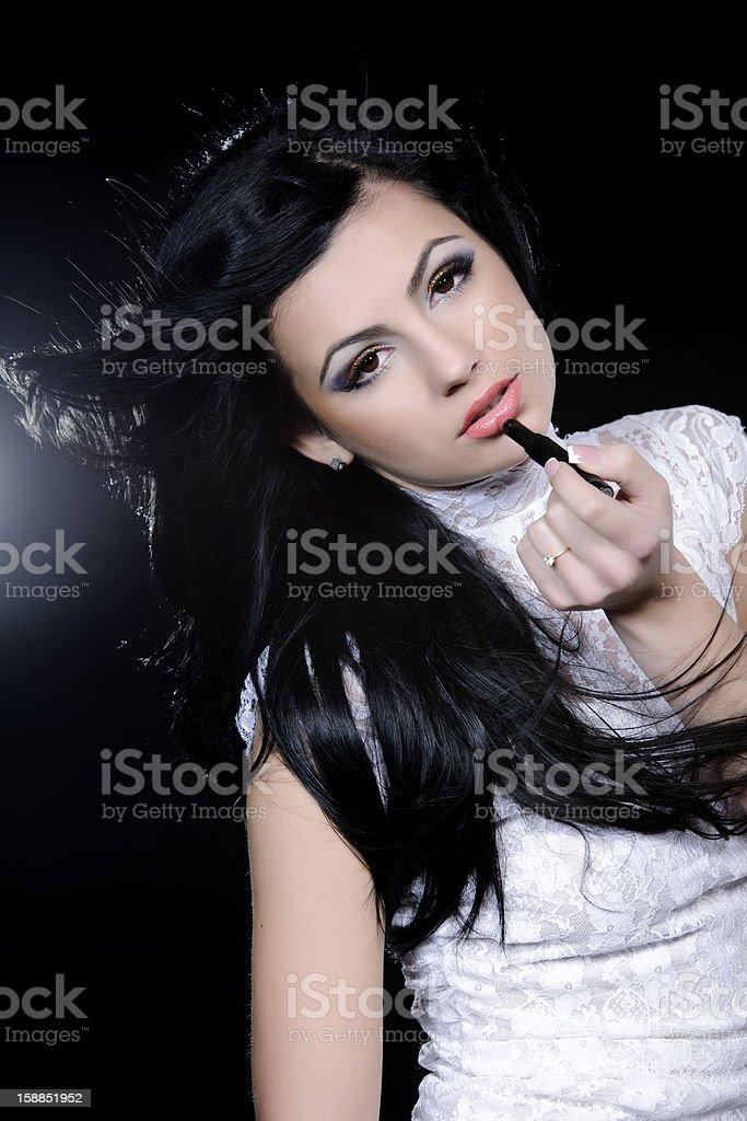 brunette femme photo libre de droits