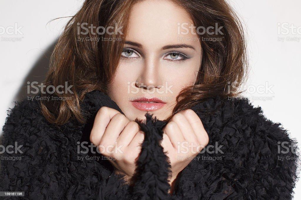 Brunette Woman royalty-free stock photo