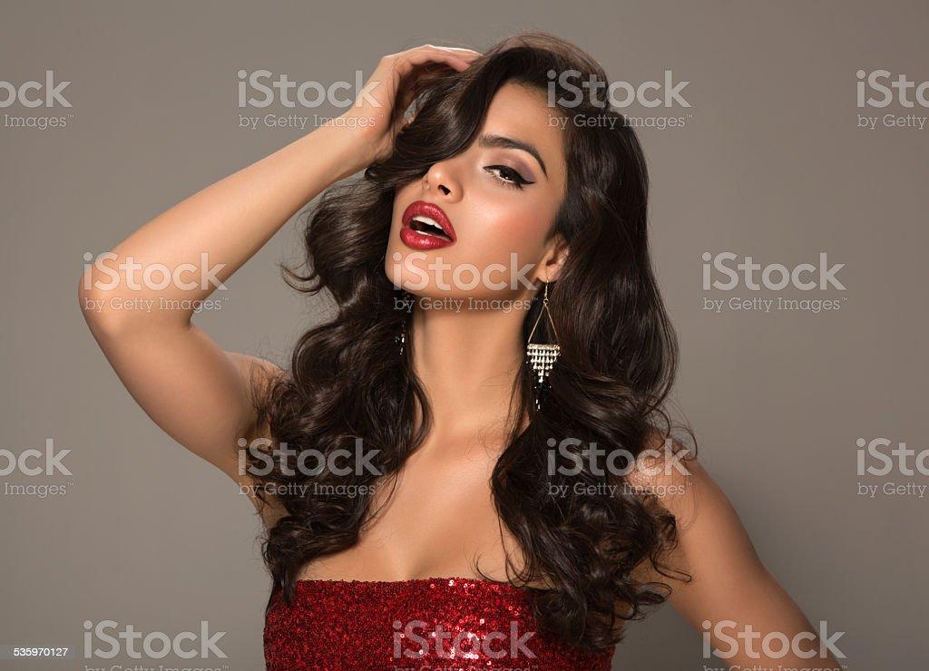 Brunette woman. stock photo