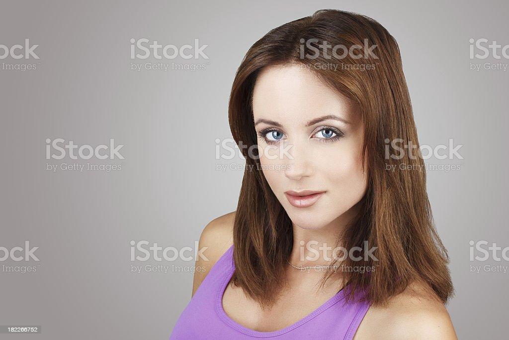 Brunette woman portrait smile royalty-free stock photo