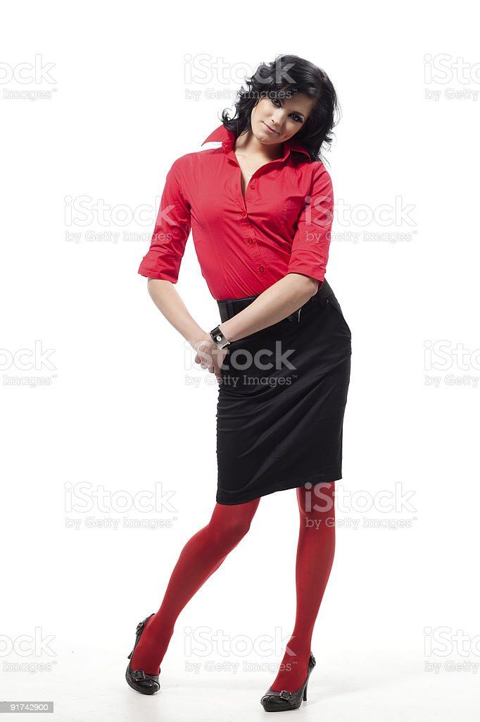 Brunette woman poses. royalty-free stock photo