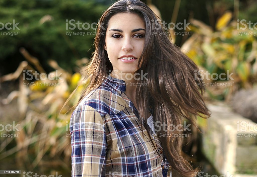 Brunette woman's portrait royalty-free stock photo