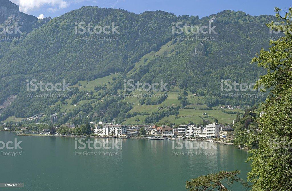 Brunnen,Lake Lucerne,Switzerland stock photo