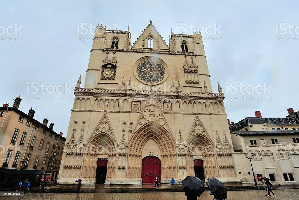 SAN Bruno cathedral in Lyon stock photo