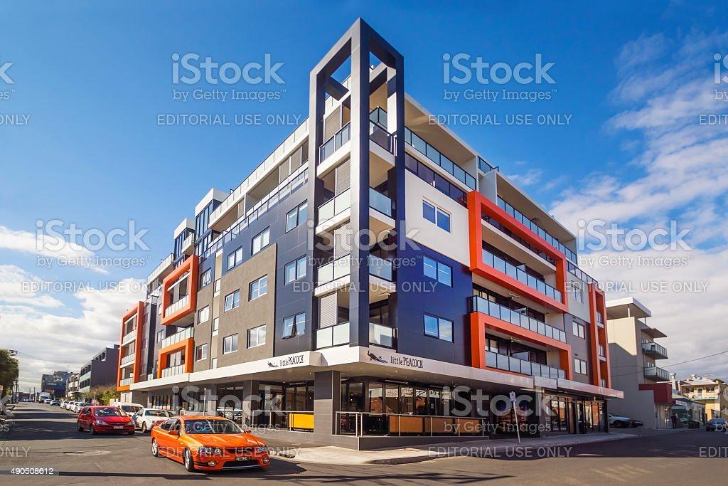 B Brunswick Apartments stock photo