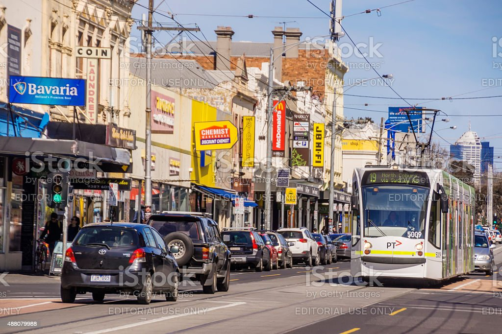 Brunswick - Sydney Road stock photo