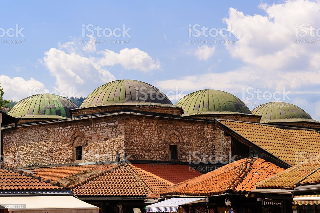 Brusa Bezistan Sarajevo stock photo