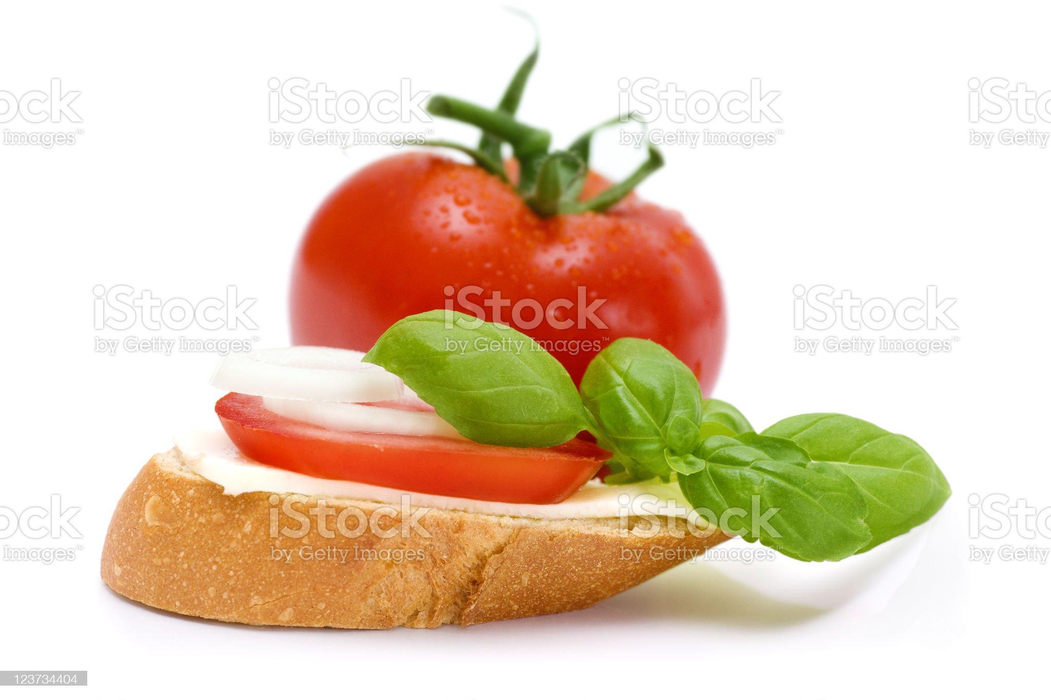 Bruschetta appetizers royalty-free stock photo