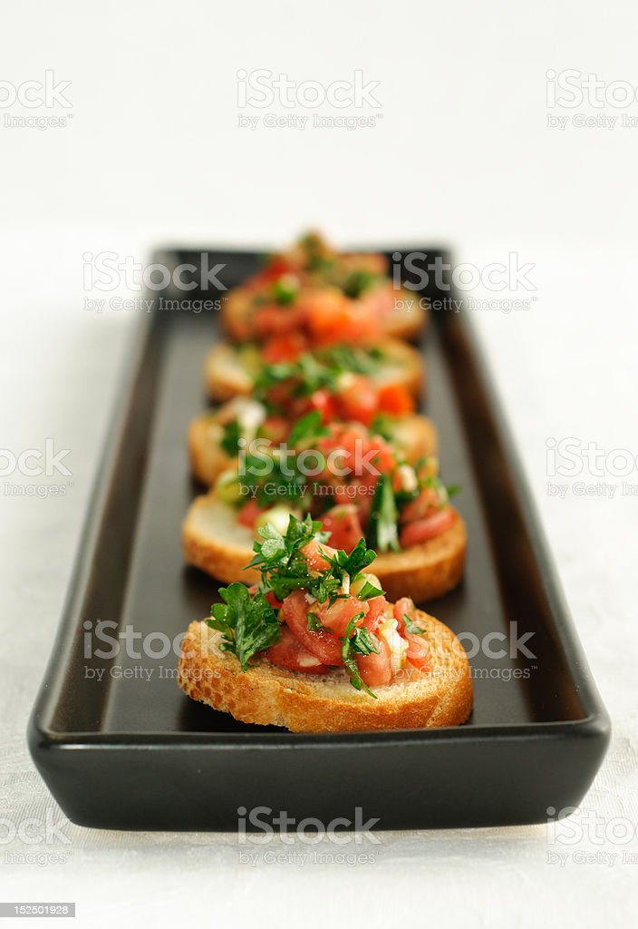 Bruschetta  Appetizers royalty-free stock photo