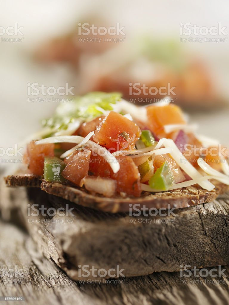 Bruschetta Canapes royalty-free stock photo