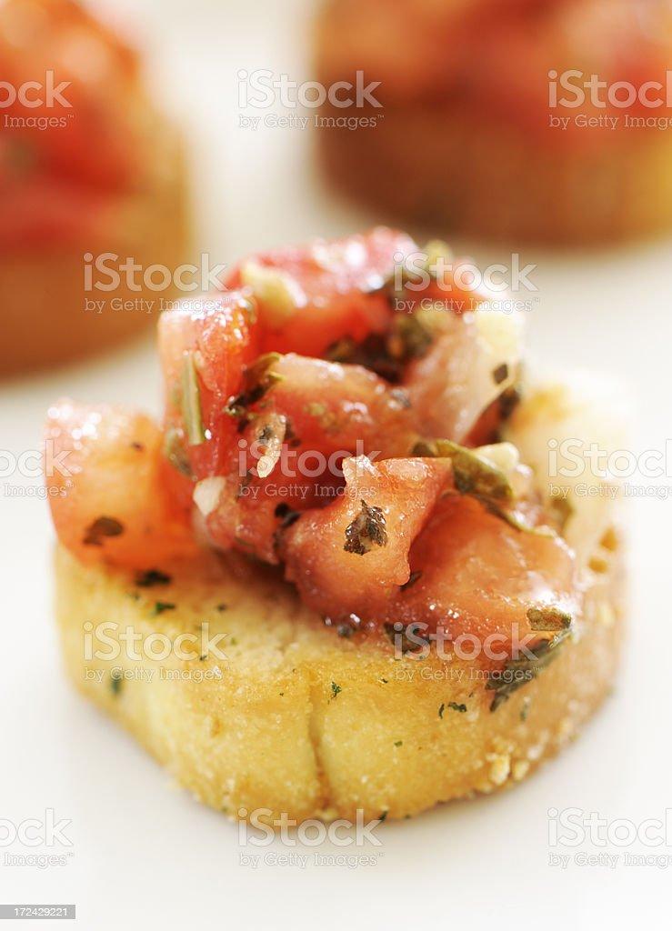 Bruschetta cracker appetizers stock photo
