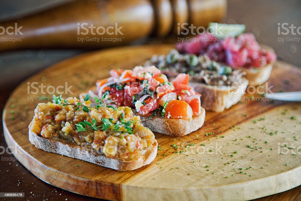 Bruschetta Mix stock photo