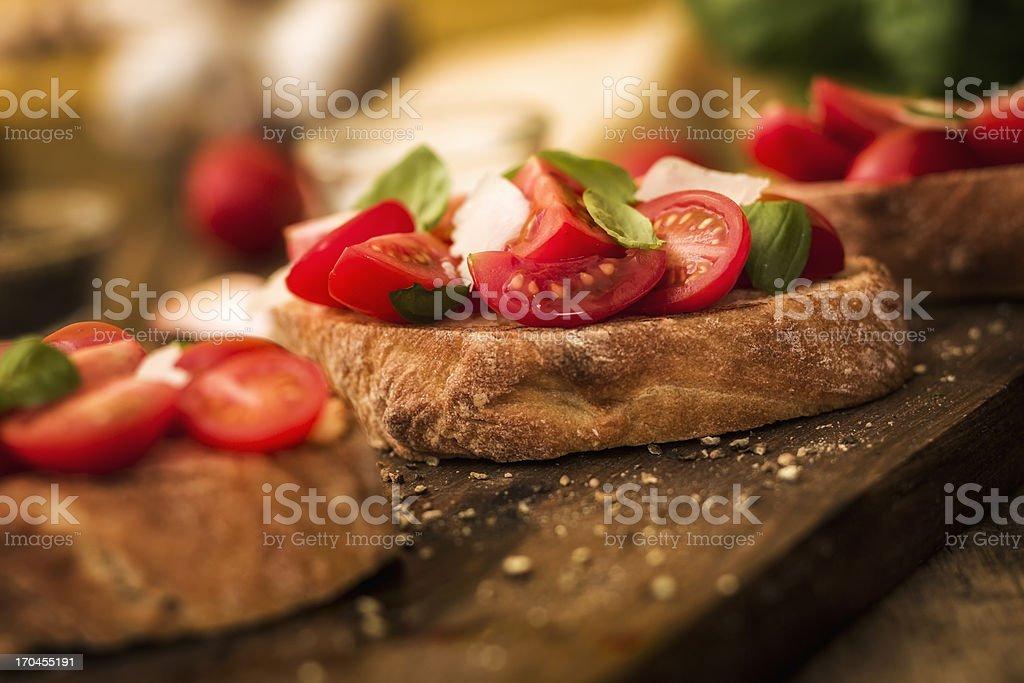 Bruschetta stock photo